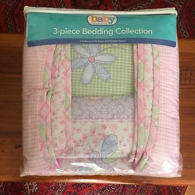 Baby Connection Comforter, Crib Sheet And Bumper Guard For Cot Brand New