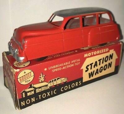Rare Vintage Station Wagon Friction Toy Car Vehicle Excel Products Goodee Toys