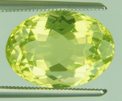 6.66 Ct Natural Lemon Quartz Loose Gems Oval Faceted Cut 10.1 X14.1 Mm Certified