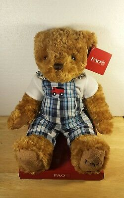 "FAO Schwarz 2016 Collector 12"" Teddy Bear Stuffed Animal Plush Toy *NEW W/ TAGS*"