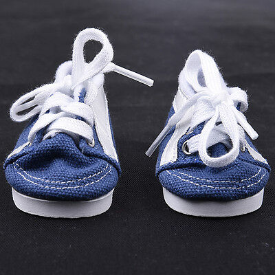 Handmade Doll Blue Canvas Shoes for 18 inch Doll Baby Toys Shoes Pop