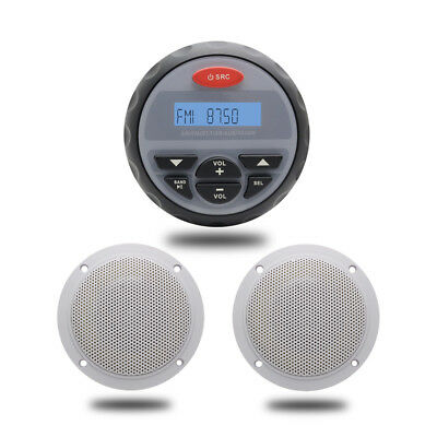 """12 V Marine Audio Stereo Boat Bluetooth Radio MP3 Player+4""""Car Outdoor Speakers"""