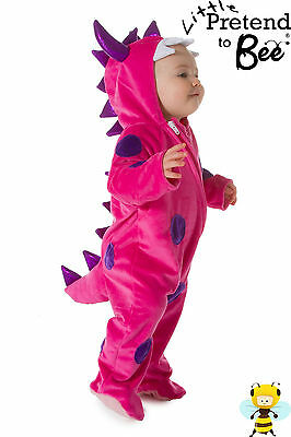 Baby Toddler Girls Deluxe Pink Monster Animal Fancy Dress Outfit Costume Age 1-3