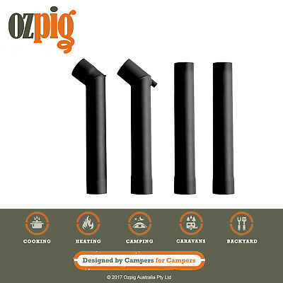 Ozpig Double Offset Chimney Kit (2 x offset pieces and 2 x straight pieces)
