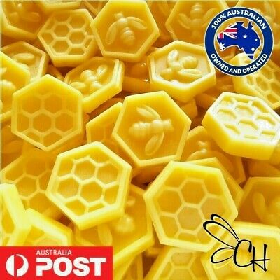 Australian Beeswax Cosmetic grade Bees Wax Food wraps Lip balms candles 50 grams