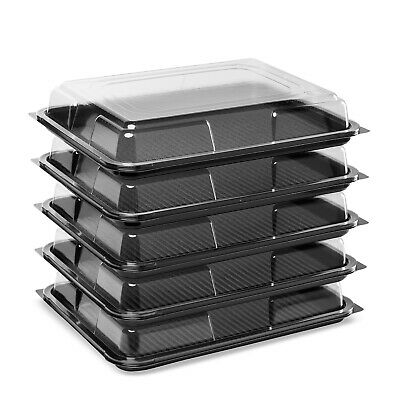 15x MEDIUM Buffet Catering Partyfood/Sandwich Platter Trays With Clear Lids