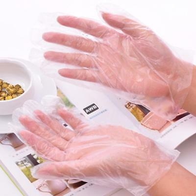 100pcs Disposable PE Garden Home Restaurant BBQ Plastic Multifunction Gloves Cle