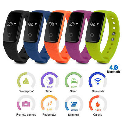 Smart Bracelet Watch Band Fitness Tracker Heart Rate Monitor For IOS Android UK