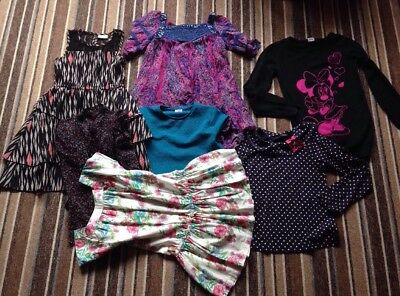 Clothing Bundle Girl Age 9-10 Years Mixed Clothes Bundle Top/dresses. 7 Items