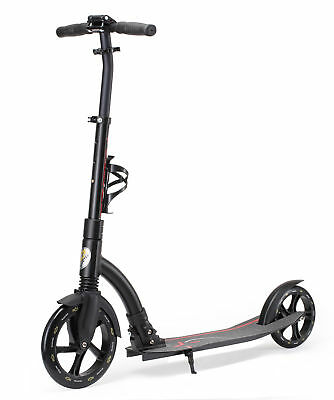 STAR-SCOOTER® Big Wheel City Roller Scooter Klappbar ★ 230 Pro Edition ★ Schwarz