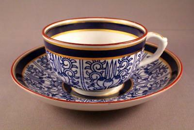 BEAUTIFUL ANTIQUE ROYAL WORCESTER CUP AND SAUCER c.1881 - PERFECT