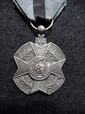 Belgium Pre Wwii Silver Medal Of The Order Of Leopold Ii French Issue