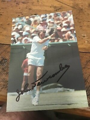 John Newcombe Tennis Australian tennis signed 6x4 Inch Photo With COA