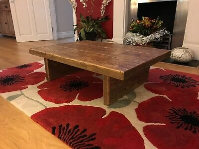 Rustic Coffee Table,  Wood, Solid, Chunky, Handmade, Wooden, Pine, Vintage