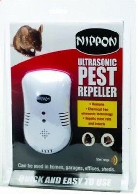 Nippon Ultrasonic Pest Repeller-Mice Rats Rodent Insect Home Garage Office Shed