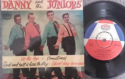 DANNY & the JUNIORS ROCK N ROLL  SWEDEN EP
