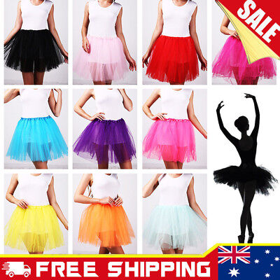 New Tutu Skirt Womens Adults Girls Princess Dress Party Costume Ballet Dancewear