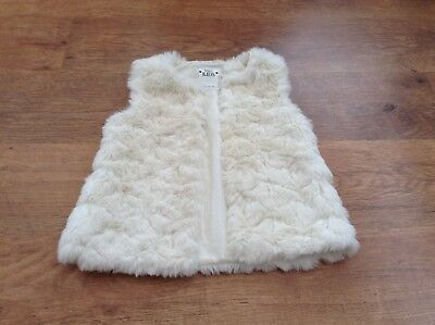 M+S Girls Autumn Winter Fur Gilet 9-10 Yrs