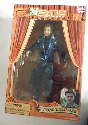 N sync Justin Timberlake Marionette 2000 Living Tozs plus display stand