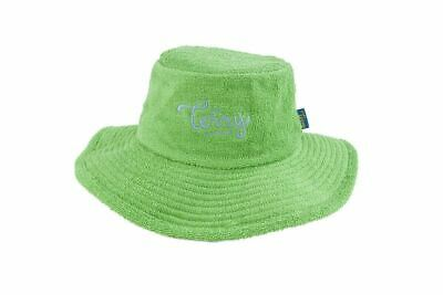 Terry Towelling Bucket Hat Wide Brim Sun Protection Camping Fishing Green