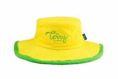 The Ol' Green and Gold Terry Towelling Bucket Hat Cricket Wide Brim