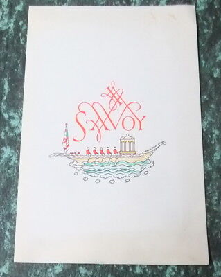 Savoy (London) restaurant menu for Tuesday 9th May 1967