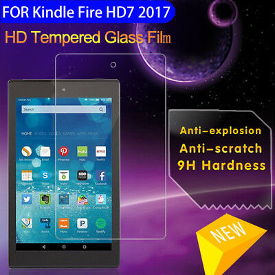 For Kindle Fire HD 6/7/8/10 2017 Tempered Glass Tablet Screen Protector Film