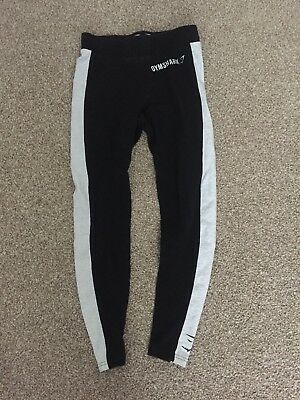 Black And Grey Gymshark Leggings Workout Wear Gym Wear