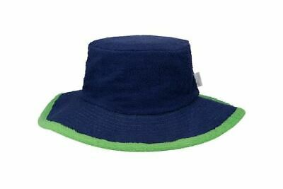 Mens Bucket Hat Sun Protection Terry Towelling Fishing Camping Cotton Navy