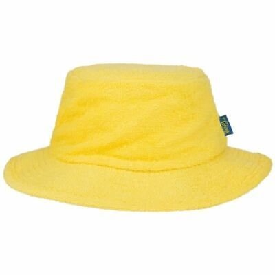 Terry Towelling Bucket Hat Sun Protection Cotton Fishing Camping Yellow