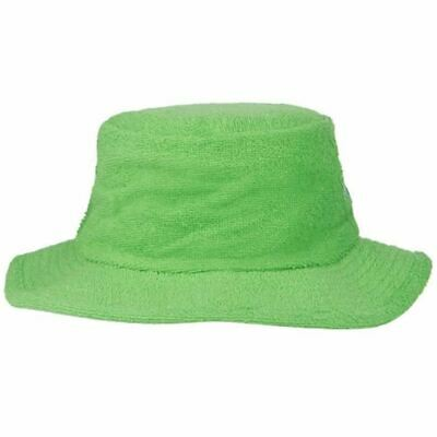 Terry Towelling Bucket Hat Sun Protection Cotton Fishing Camping Green