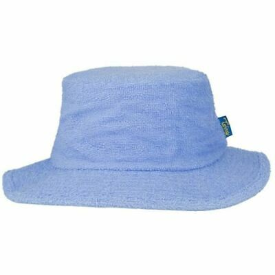 Terry Towelling Bucket Hat Sun Protection Cotton Fishing Camping Sky Blue