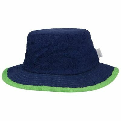 Bucket Hat Sun Protection Terry Towelling Fishing Camping Cotton Navy