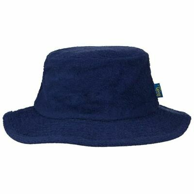 Terry Towelling Bucket Hat Sun Protection Cotton Fishing Camping Navy