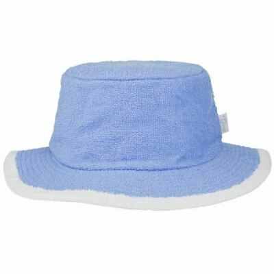 Bucket Hat Sun Protection Terry Towelling Fishing Camping Cotton Blue