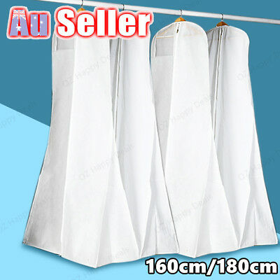 White Wedding Dress Bridal Gown Garment Protector Dustproof Cover Storage Bag