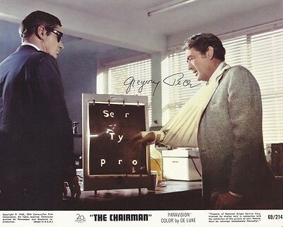 GREGORY PECK - HAND SIGNED 8 x 10 LOBBY CARD.