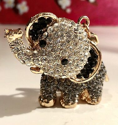 ELEPHANT LOVERS Come ADORE This Elephant BLING Key Chain Shinning With Gems!!!