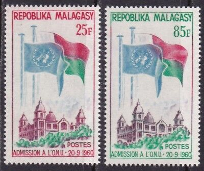 Malagasy Rep #326-327 Mnh Malagasy Admission To The United Nations