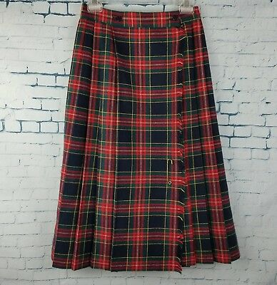 Kilt by nine 2 five career clothes unisex Red Blue Green Yellow 30%Wool USA Made