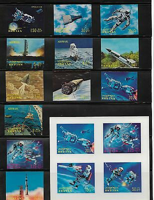 Bhutan Stamps 3D Space Mini Sheet - Another 16 Singles