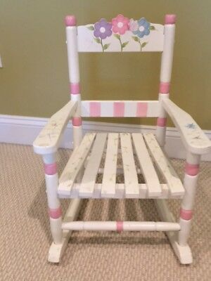 Adorable Kid's Painted Rocking Chair