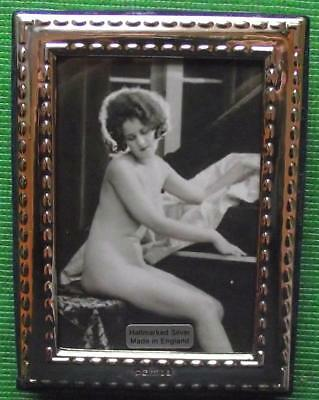Contemporary Edwardian B  Hallmarked Sterling Silver Photo Frame Xmas Valentines