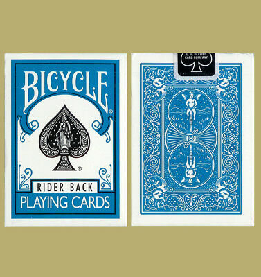 Turquoise Bicycle 808 Rider Back Playing Cards Poker Size