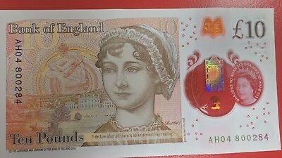 Bank of England £10 Note 2016 - Serial No - AH.............