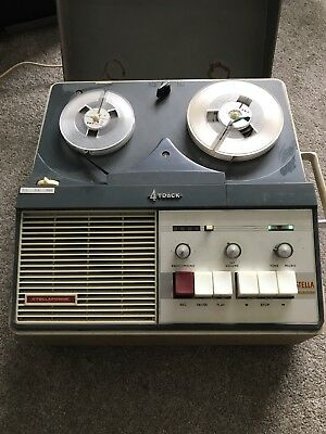 Classic Stellaphone St-458 4 Track Reel To Reel Tape Player Recorder