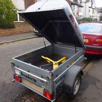 Brenderup 1150S trailer with locking ABS hard lid, plus wheel and hitch locks