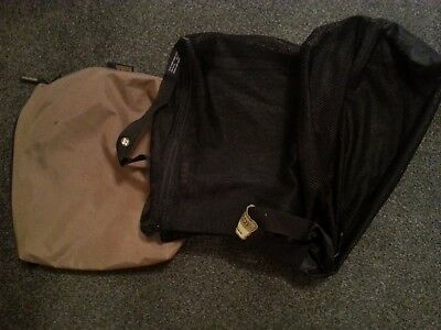 Two Hardy dry bags and a Snowbee wader bag