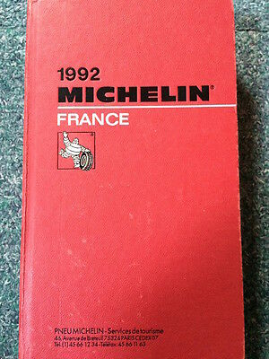 Guide Michelin France 1992