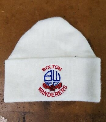 Bolton wanderers  wooly HAT Beanie hat The whitemen Lilley Whites